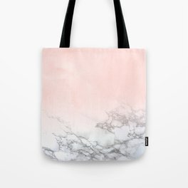 Rose Gold Pink Pastel Marble Luxe Fade II Tote Bag