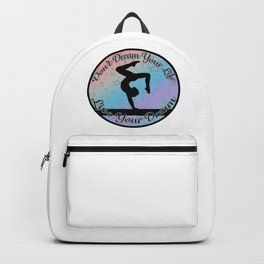Gymnastics Beam Live your Dream on Rainbow Gradient Design Style 2 Backpack