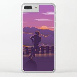 Running sunrise Clear iPhone Case