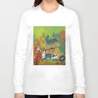 alice in wonderland Long Sleeve T-shirts featuring Wonderland by joanniegelinas