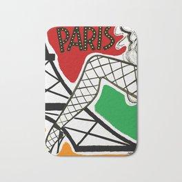 Vintage Paris France Travel Bath Mat