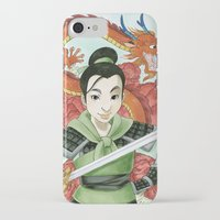 mulan iPhone & iPod Cases featuring Mulan by Aimee Steinberger