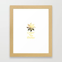 Conquer your Enemies Framed Art Print