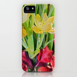 Yellow and Red - May Flower Therapy iPhone Case
