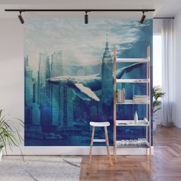 Blue Whale in NYC Wall Mural