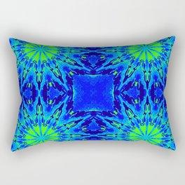 Green & Blue Starburst Series Rectangular Pillow