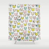 kittens Shower Curtains featuring Kittens by Elisa MacDougall