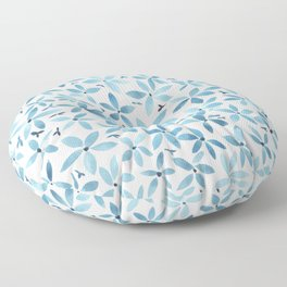 Blue Bouquet Floor Pillow