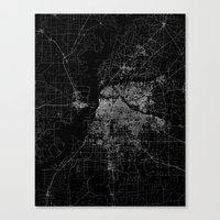 memphis Canvas Prints featuring Memphis map by Line Line Lines