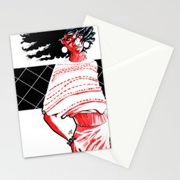 Windswept Afro Stationery Cards