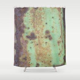 Green Rust Shower Curtain