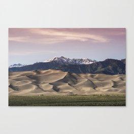 Dunes Sunset Canvas Print