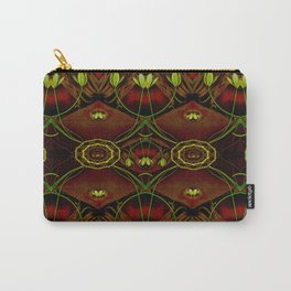 Lether and decorative florals pattern Carry-All Pouch