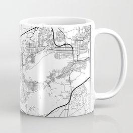 Minimal City Maps - Map Of Allentown, Pennsylvania, United States Coffee Mug