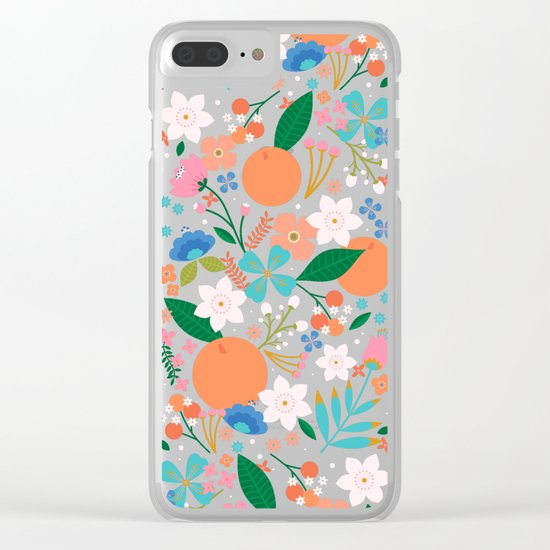Orange Blossom Clear iPhone Case