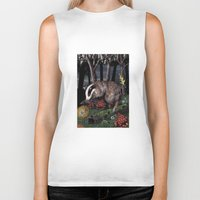 badger Biker Tanks featuring badger by ahatom