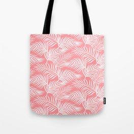Palm Leaves_Pink Tote Bag