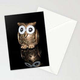 """""""Reflections"""" - Gold Owl Stationery Cards"""