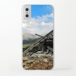 Man and Mountain Clear iPhone Case
