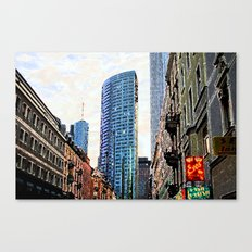 Frankfurt Germany - Red Light Canvas Print