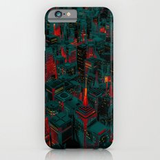 Night city glow cartoon iPhone 6 Slim Case
