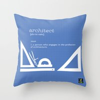 architect Throw Pillows featuring architect by Be Raza