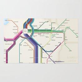 Itinéraires de train à grande vitesse de la France Rug