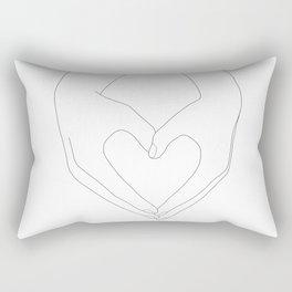 Hands of Love Rectangular Pillow