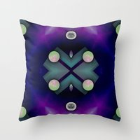 planets Throw Pillows featuring Planets by Digital-Art