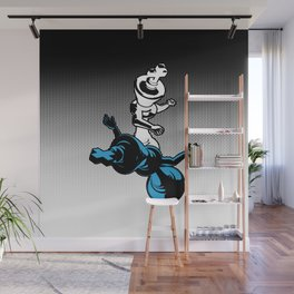 Checkmate / Chess king knocking out opponent Wall Mural