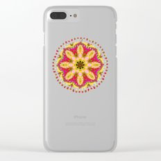Sweet Happiness Floral Mandala Clear iPhone Case