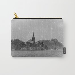 Snowy Bled Island Mono Carry-All Pouch