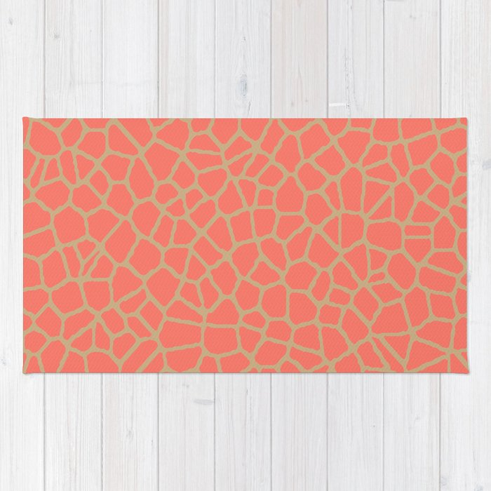 staklo (peach with coffee) Rug