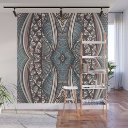 Art hand drawn print in zentagle style Wall Mural