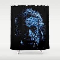 einstein Shower Curtains featuring Einstein by Blake Byers