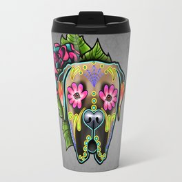 Mastiff in Fawn - Day of the Dead Sugar Skull Dog Travel Mug
