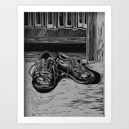 Shoes to Fill Art Print