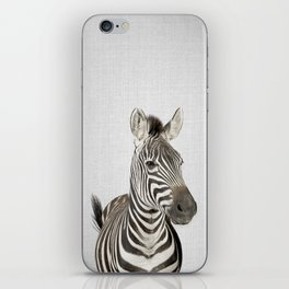 Zebra 2 - Colorful iPhone Skin