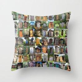 Outhouses Throw Pillow
