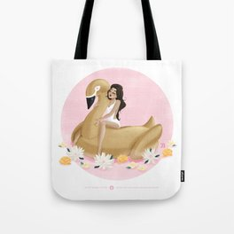 Summer Pool Party - Gold Swan Float B Tote Bag
