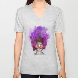 Free thoughts colorful painting Unisex V-Neck