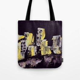 Yellow Purple Cityscape Tote Bag