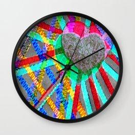 Multi Heart Rays 1 Wall Clock
