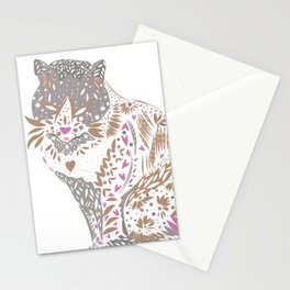 Exotic trendy Mystical cat drawing Stationery Cards