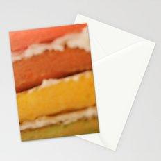 rainbow cake Stationery Cards
