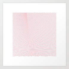 #66 Red space – Geometry Daily Art Print