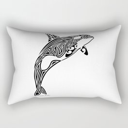 Tribal Orca Rectangular Pillow