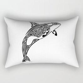 Tribal Orca Rectangular Pillow