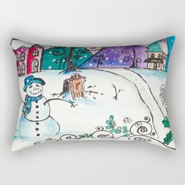 Holly Sled Rectangular Pillow