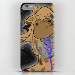 Bubble Blowing Giraffe iPhone Case